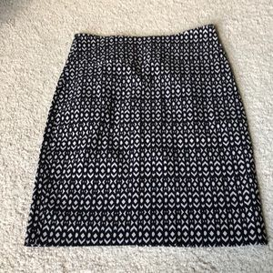 Margaret M black printed skirt